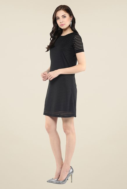 Yepme Black Striped Shift Dress