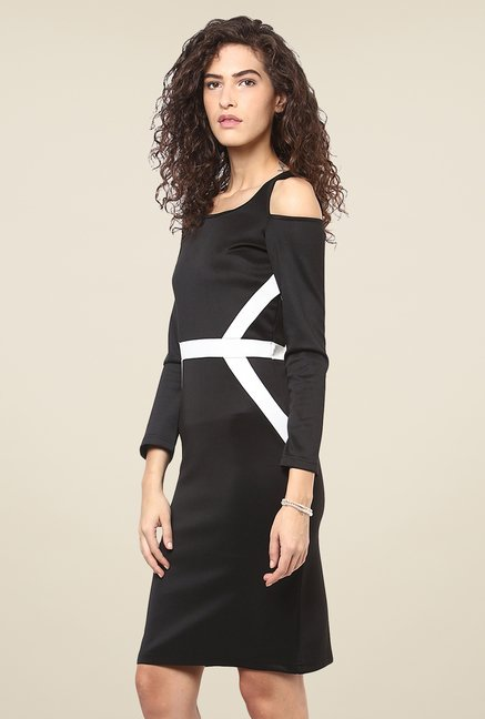 Yepme Black Cut Out Bodycon Dress