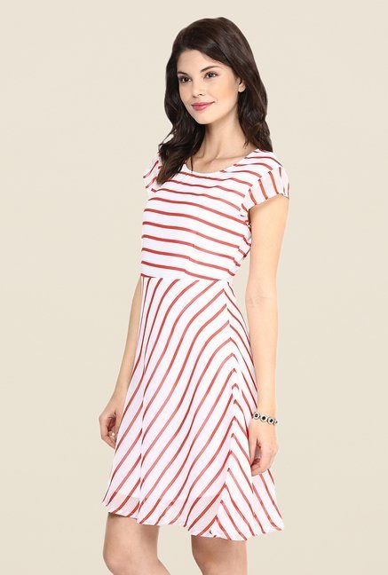 Yepme Betsy Red & White Swing Dress