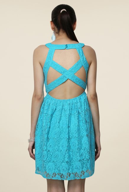 Yepme Eliza Blue Lace Dress
