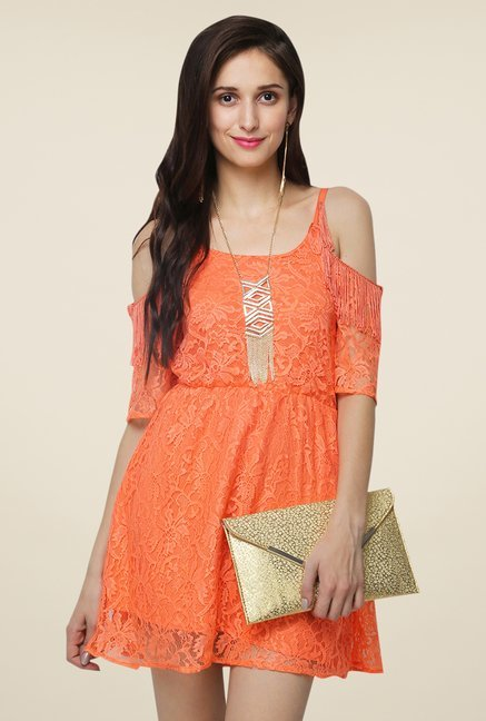 Yepme Fiona Orange Lace Dress
