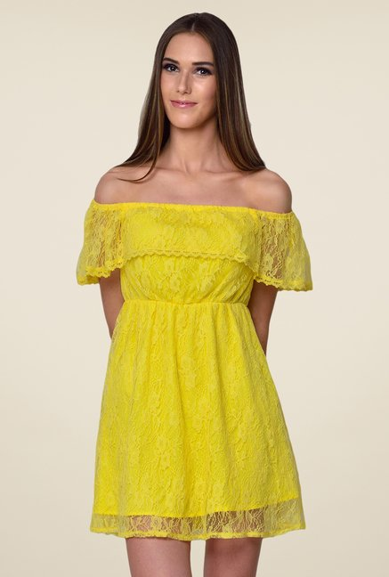Yepme June Yellow Lace Dress