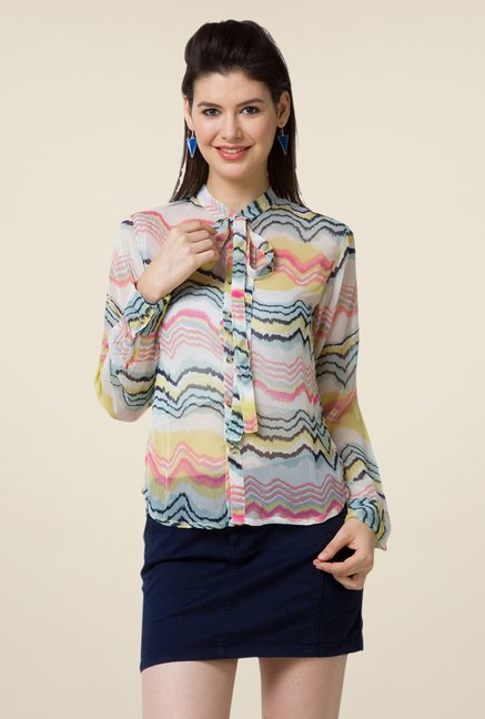 Yepme Multicolor Verena Tie Up Top