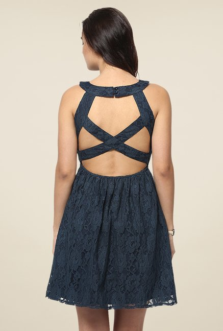 Yepme Fiona Navy Lace Dress