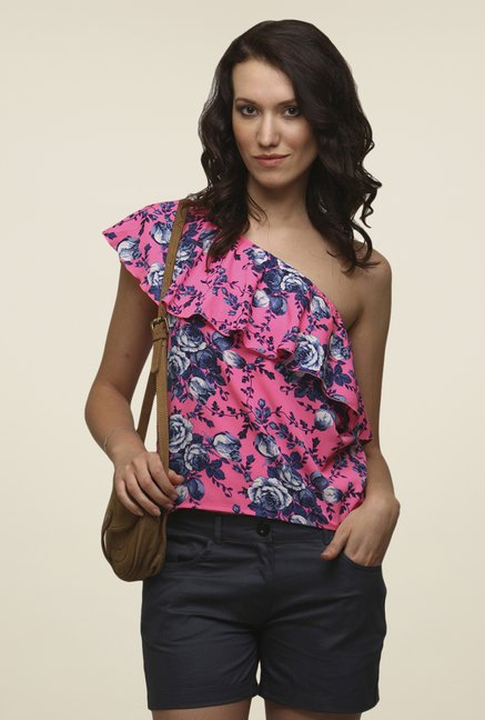 Yepme Pink Annette One Shoulder Top
