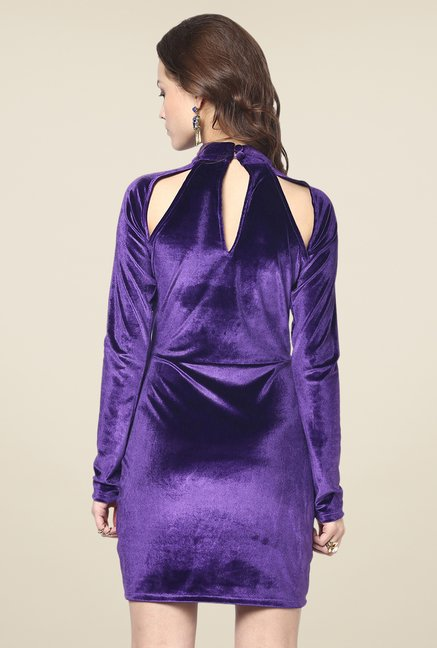 Yepme Odilly Purple Party Dress