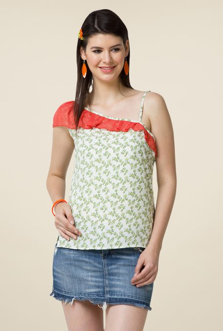 Yepme Green Briana One Shoulder Top