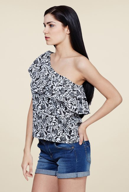 Yepme Black Annette One Shoulder Top