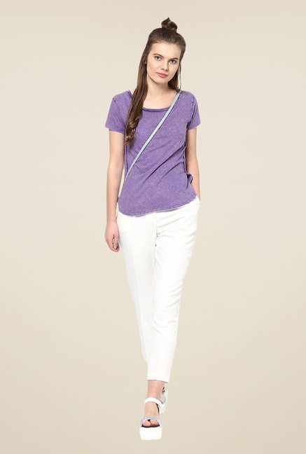 Yepme Purple Celia Acid Wash Premium Top