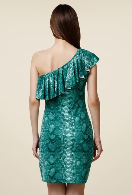 Yepme Scarlett Green One Shoulder Dress