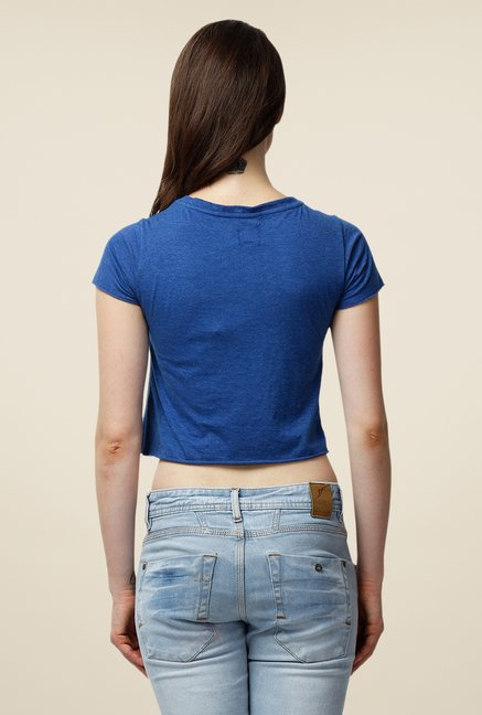 Yepme Blue Carmela Short Sleeve Premium Top