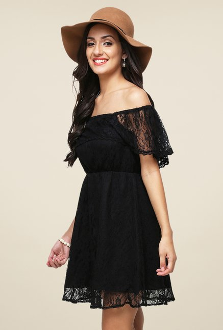 Yepme June Black Lace Dress