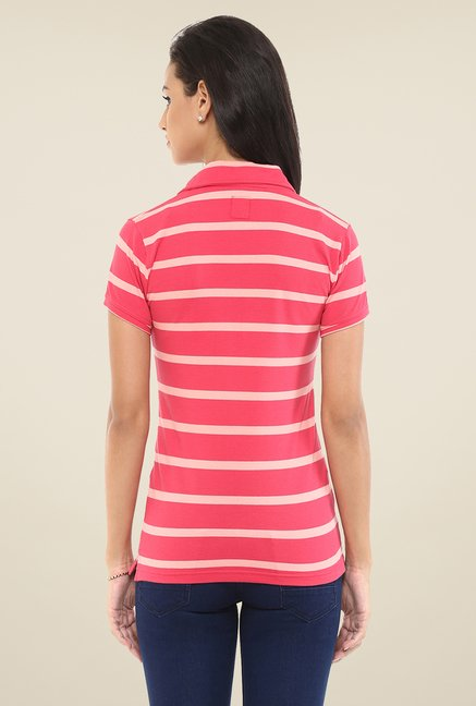 Yepme Pink Perry Polo T Shirt