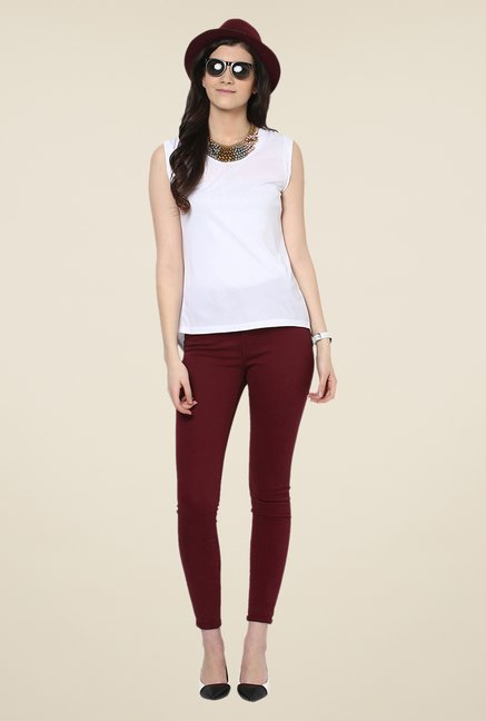 Yepme White Antonia Premium Top