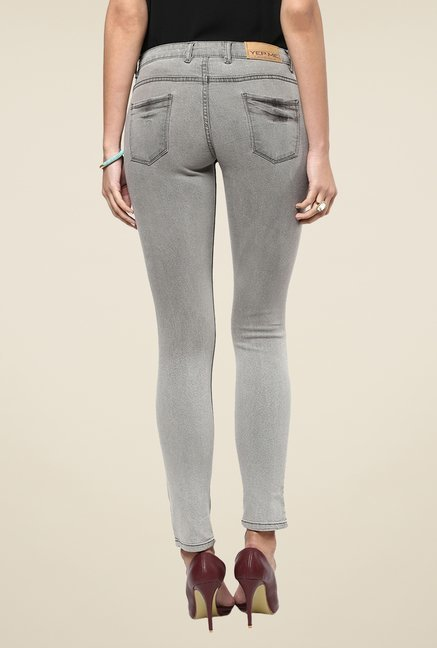 Yepme Grey Erica Slim Fit Denim Jeans