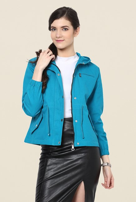 Yepme Teal Ellie Full-sleeved Jacket