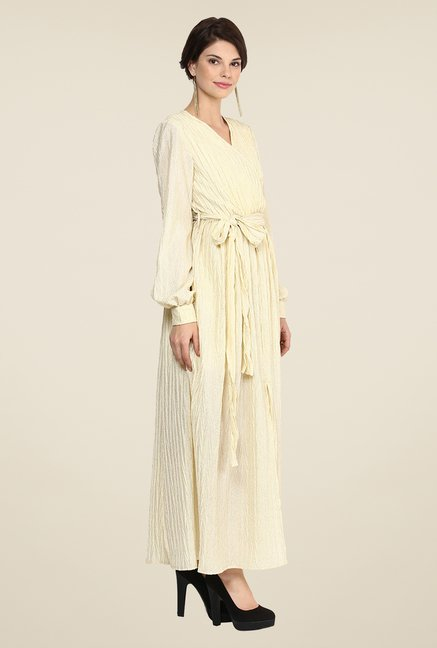 Yepme Wendy Cream Maxi Dress