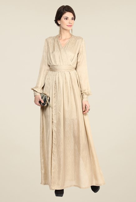 Yepme Wendy Beige Maxi Dress