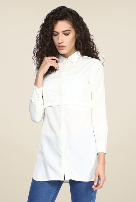 Yepme Ivory Solid Long Top
