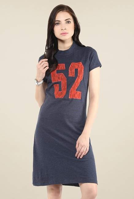 Yepme Navy T-Shirt Style Dress