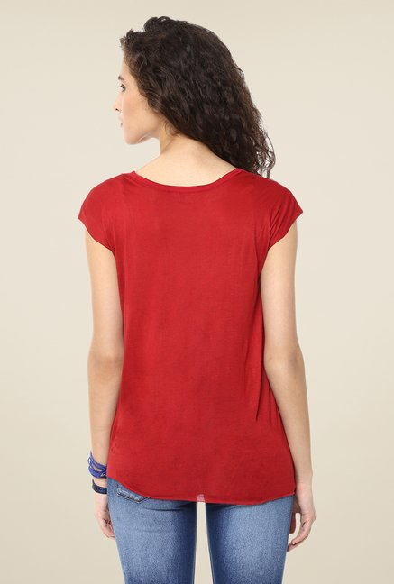 Yepme Maroon Roxy Party Top