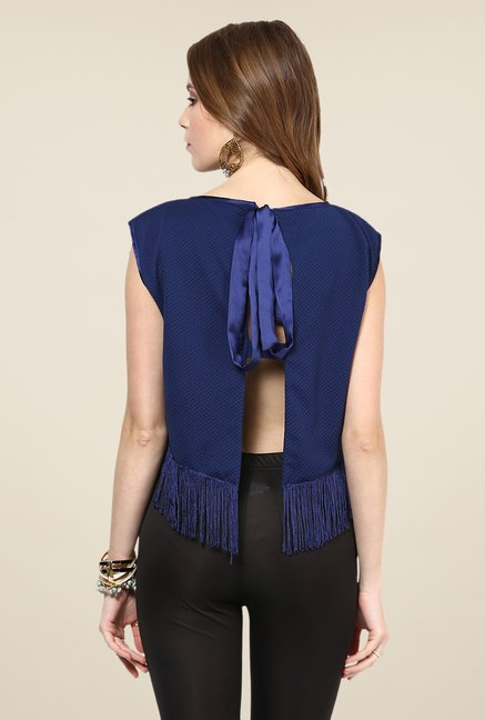 Yepme Navy Sheryl Party Top