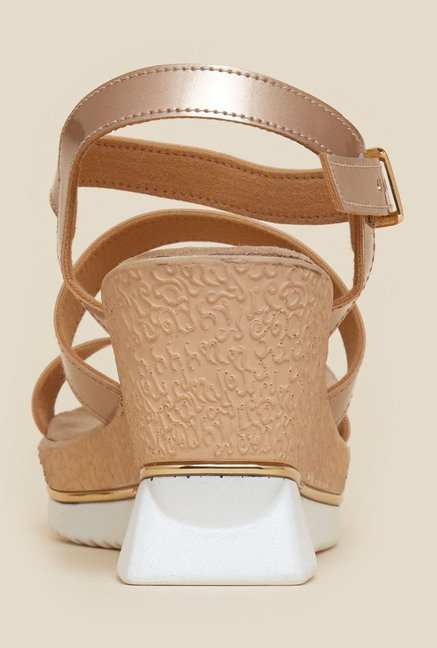 Inc.5 Copper Ankle Strap Wedges