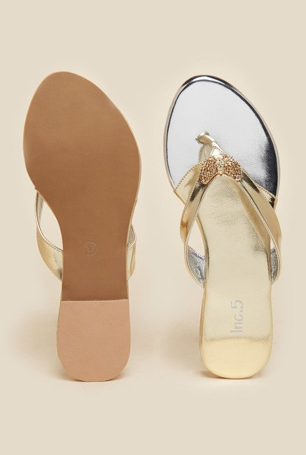 Inc.5 Gold Thong Sandals