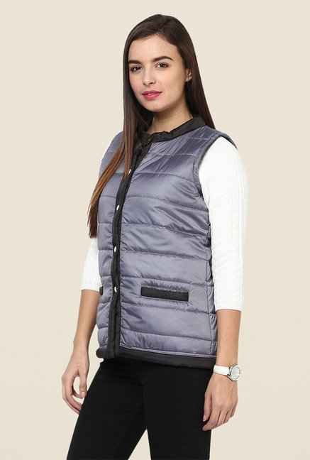 Yepme Grey Jamie Sleeveless Jacket