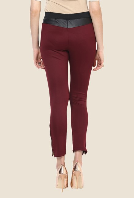 Yepme Emma Maroon Party Jeggings