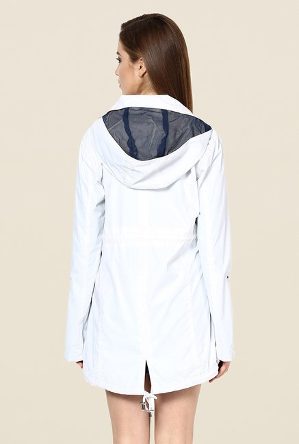 Yepme White Jullian Long Jacket