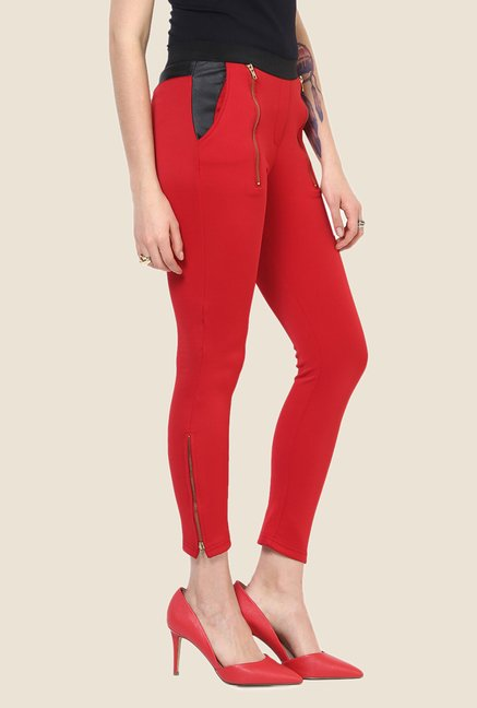 Yepme Emma Red Party Jeggings