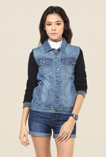 Yepme Blue Kyra Full-sleeved Denim Jacket