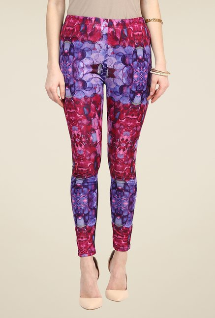 Yepme Ellise Pink & Blue Party Leggings
