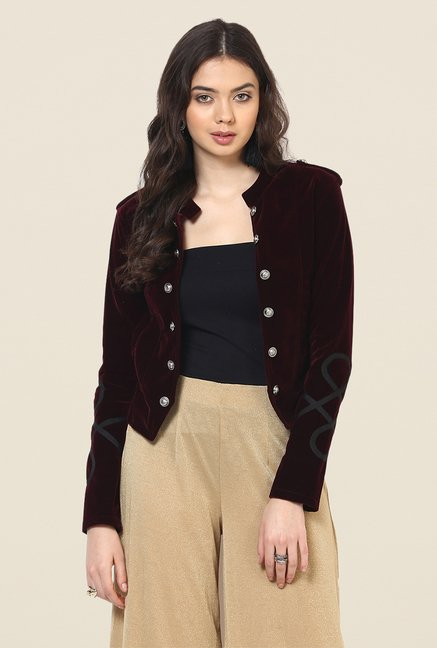 Yepme Wine Ryana Party Jacket