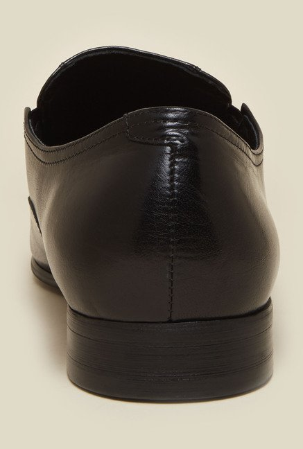Atesber by Inc.5 Black Leather Slip-Ons