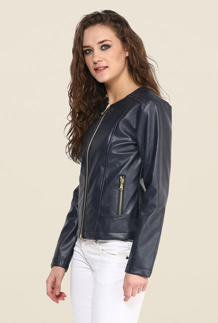 Yepme Navy Stacy Leather Jacket