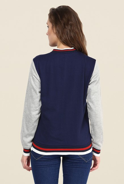 Yepme Navy Elena Full-sleeved Jacket