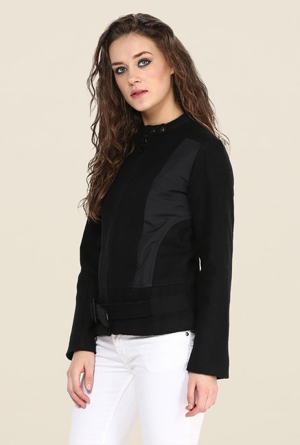 Yepme Black Piera Full-sleeved Jacket