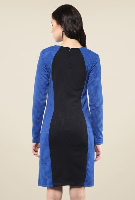 Yepme Blue & Black Bodycon Dress