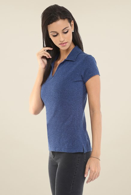 Yepme Blue Perry Polo T Shirt