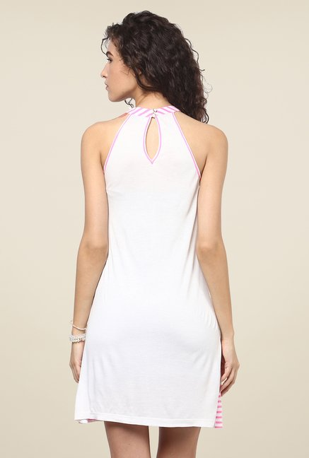 Yepme Pink & White Shift Dress
