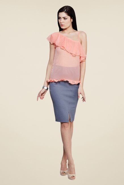 Yepme Peach Leeza One Shoulder Top