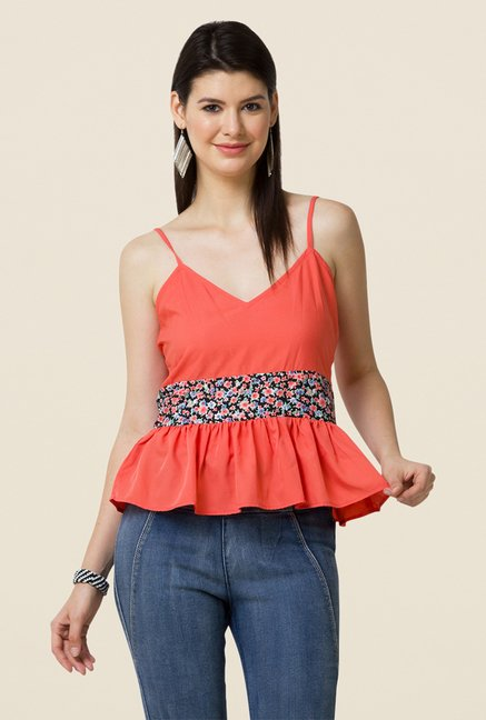 Yepme Coral Britney Strappy Peplum Top