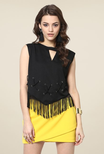 Yepme Black Sheryl Party Top