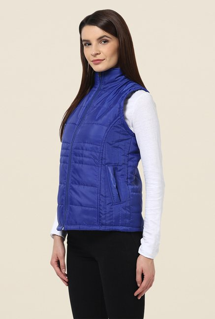 Yepme Dark Blue Sophie Sleeveless Jacket
