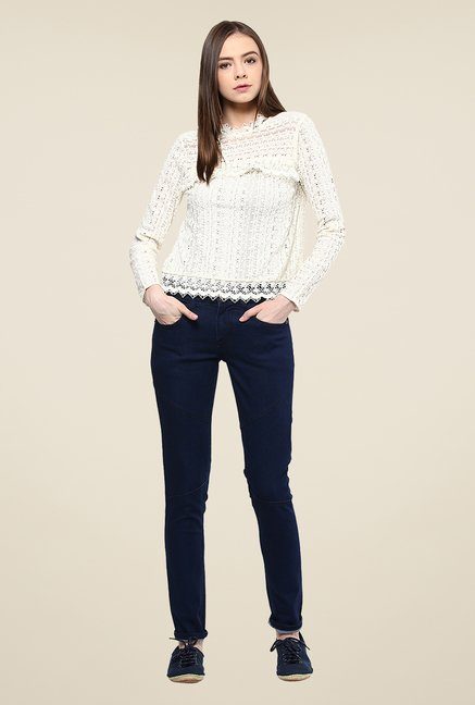 Yepme Navy Jezebel Raw Denim Jeans