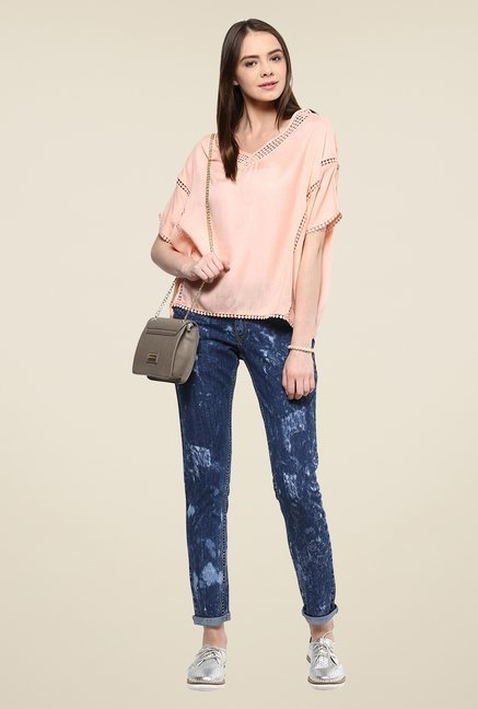 Yepme Blue Kimberiee Acid Wash Denim Jeans