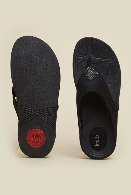 Inc.5 Black Thong Sandals