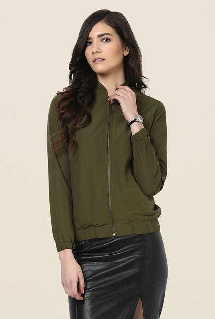 Yepme Olive Katey Full-sleeved Jacket